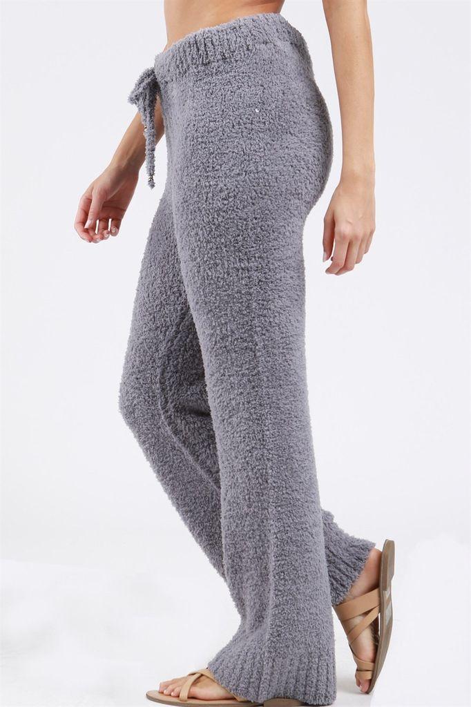 POL Berber fleece pajama pants with drawstring waistband