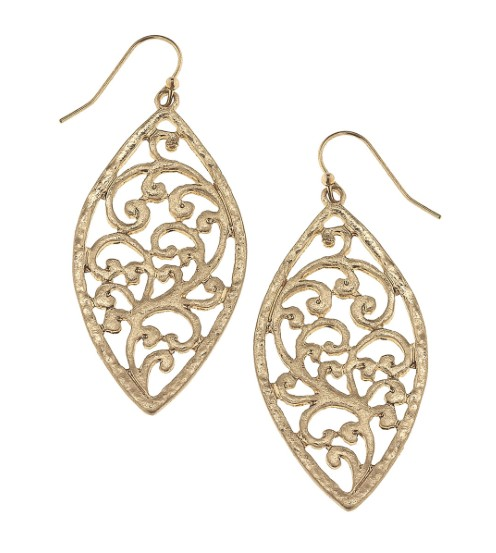 Canvas Jewelry Filigree Earrings Marquis