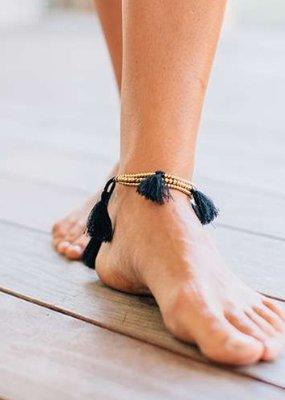Natural Life Bali Anklet Gold Black