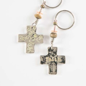 Natural Life Token Keychain Faith