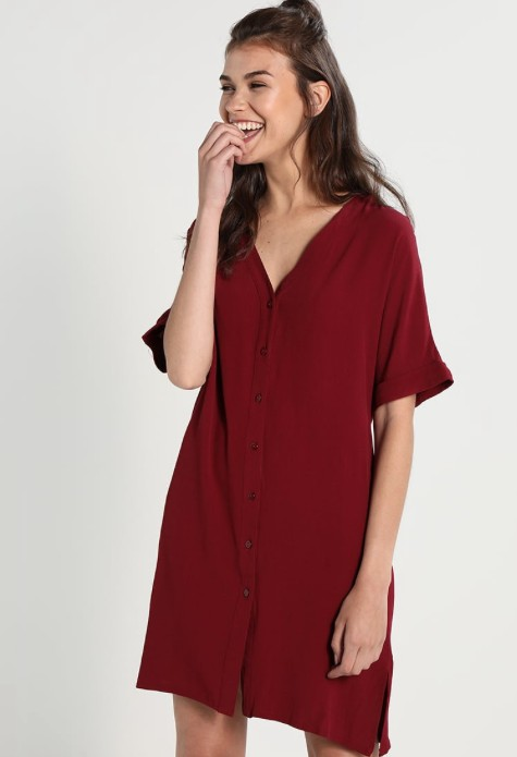Glamorous Buttonup dress w/ rolled sleeves