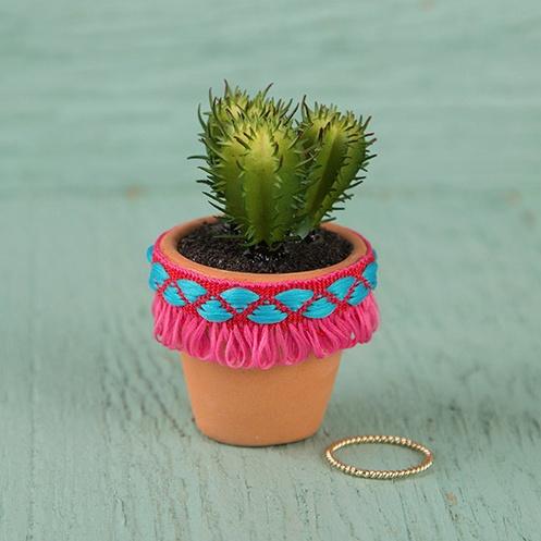 Natural Life Succulent Hot Pink Fringe