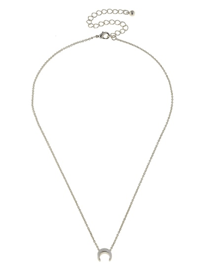 Canvas Jewelry Threaded Double Horn Necklace