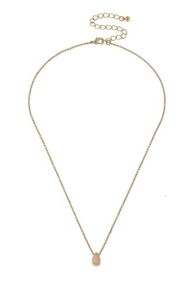 Canvas Jewelry Threaded Teardrop Necklace