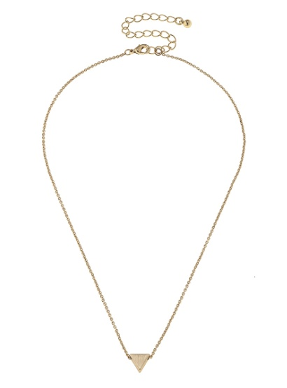 "Canvas Jewelry Triangle Necklace 14"" Adjustable"