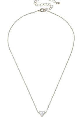 Canvas Jewelry Triangle Necklace