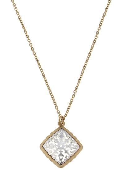Canvas Jewelry Diamond filigree pendant necklace