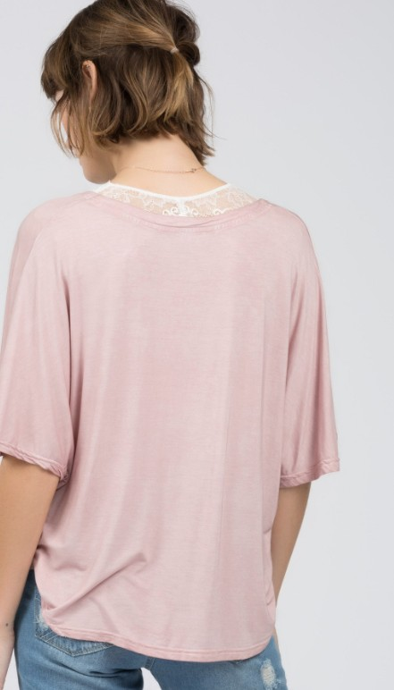 POL Twist Knot Front Boxy Top