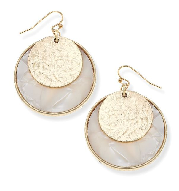 Canvas Jewelry Charlotte Layered Disc Earrings