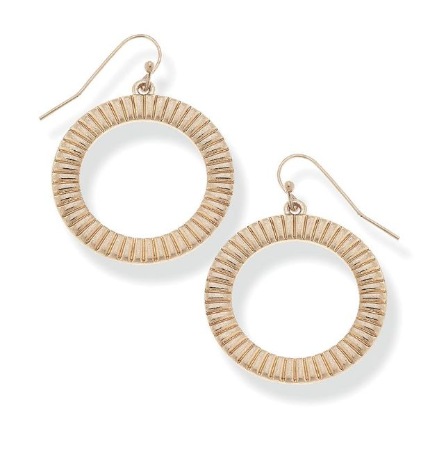 Canvas Jewelry Finley Front Hoop Earrings