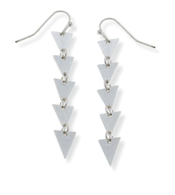 Canvas Jewelry Lola Linked Triangle Earrings