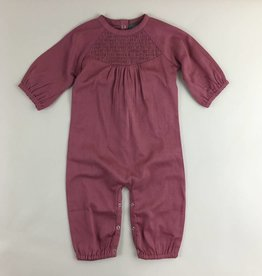 Gathered Sleeve Smocked Jumpsuit