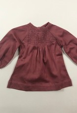Gathered Sleeve Smocked Shirt