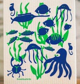 Three Bluebirds Swedish Towels- Ocean & Outdoor Designs
