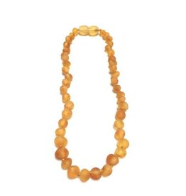 Canyon Leaf Raw Baltic Amber Children's Necklace ~12""