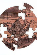 Tree Hopper Mountain Landscape Jigsaw Puzzle