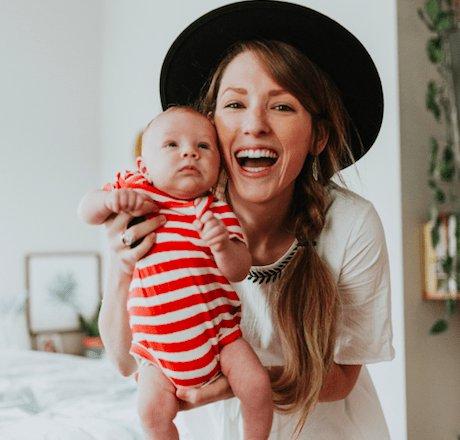 Finn & Emma Dream World Red Stripe Bodysuit