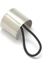 Favor Jewelry Cusp Pony Tail Hair Tie- White Brass