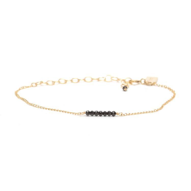 Favor Jewelry Ellipsis Bracelet- Black- Gold