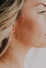 Favor Jewelry Petal Hoop Earrings