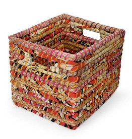 Reclaimed Sari Storage Basket Large