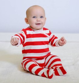 Red Stripe Footie 3-6m
