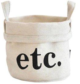 Maika Recycled Canvas Bucket- Small