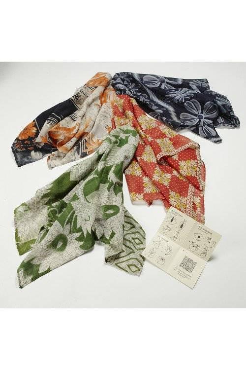 Reclaimed Sari Gift Wrap