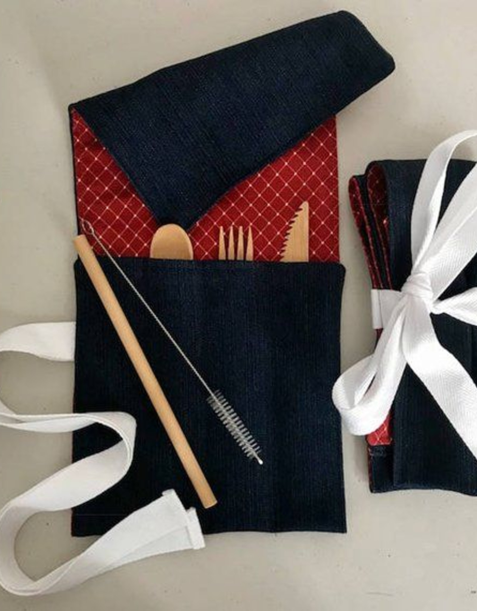 Straw Sleeves Utensil Holder Roll