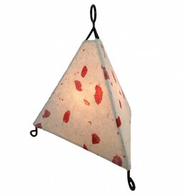 Eangee Mini Paper Pyramid Lamp Acacia Red