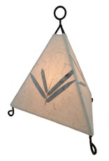 Eangee Mini Paper Pyramid Lamp Bamboo