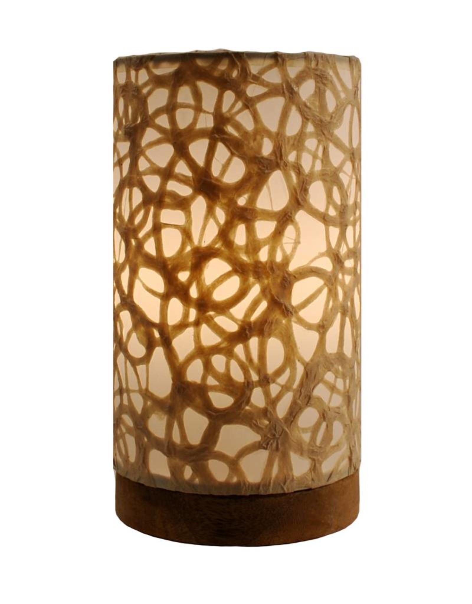 Eangee Mini Paper Cylinder Lamp Swirl