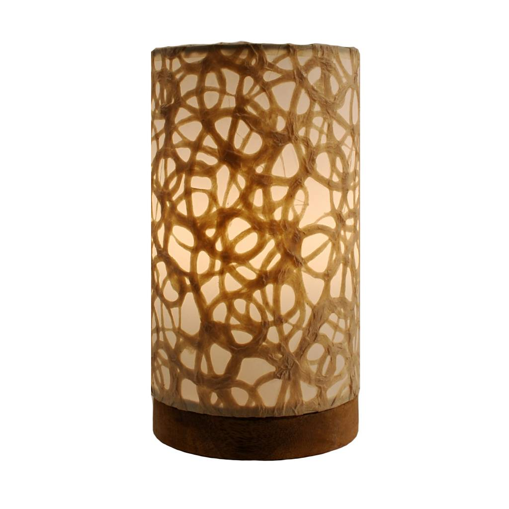 Eangee Mini Paper Cylinder Lamp Swirl