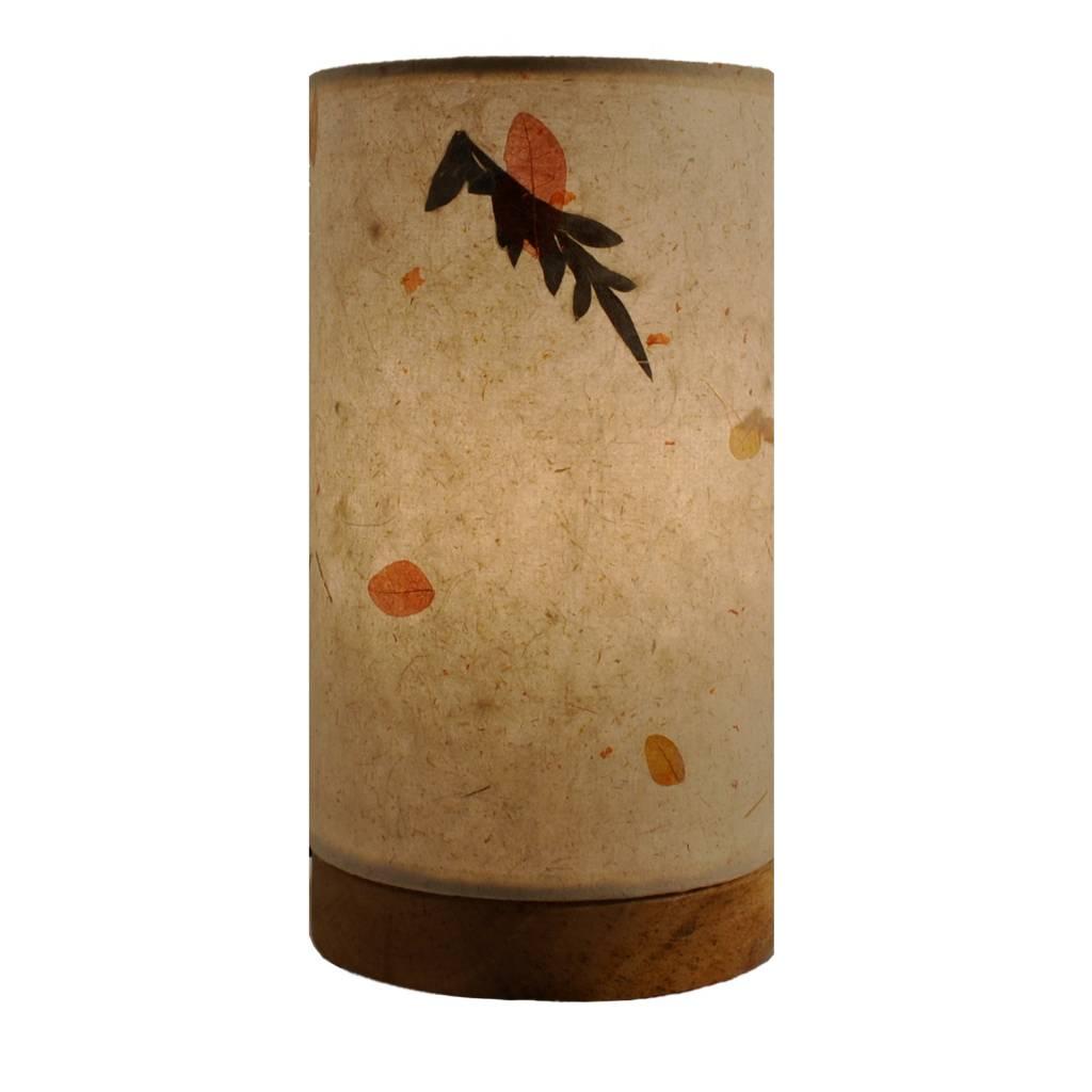 Eangee Mini Paper Cylinder Lamp Fern