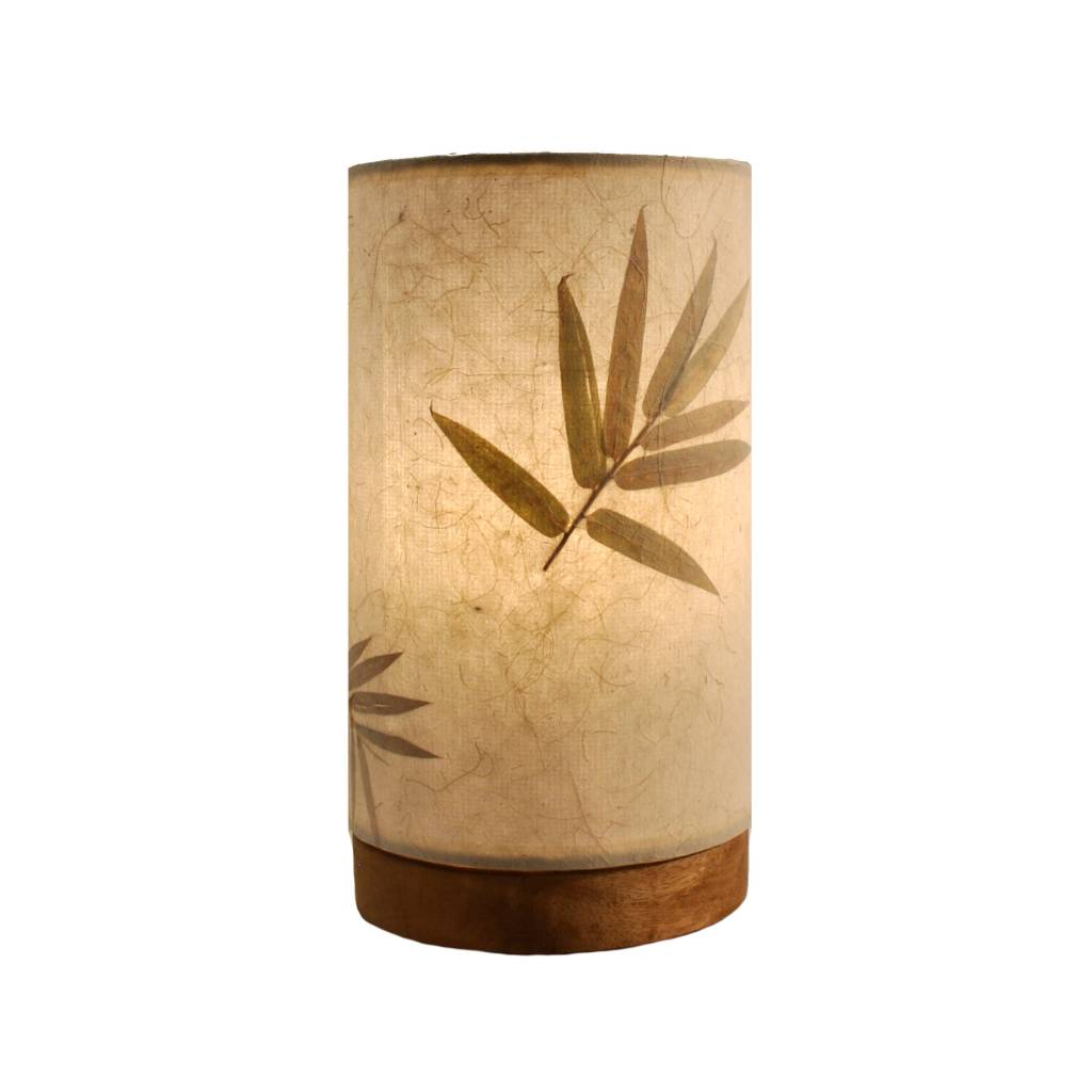 Eangee Mini Paper Cylinder Lamp Bamboo