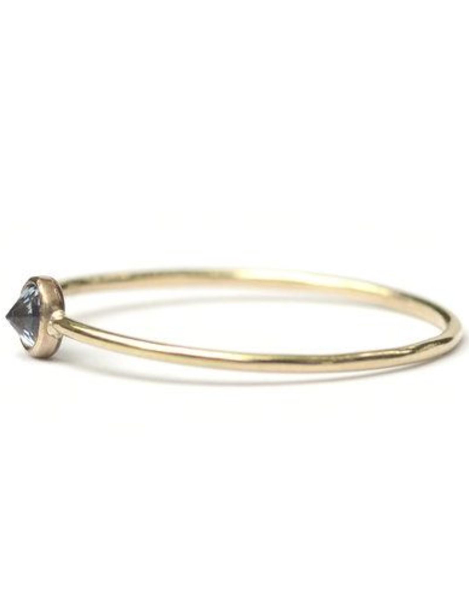 Favor Jewelry Blue Zircon Spike Ring