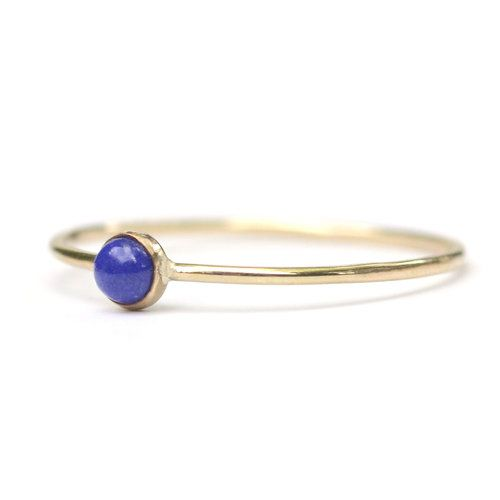 Favor Jewelry Lapis Micro Dot Ring