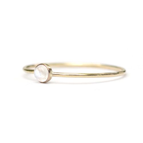Favor Jewelry Moonstone Micro Dot Ring