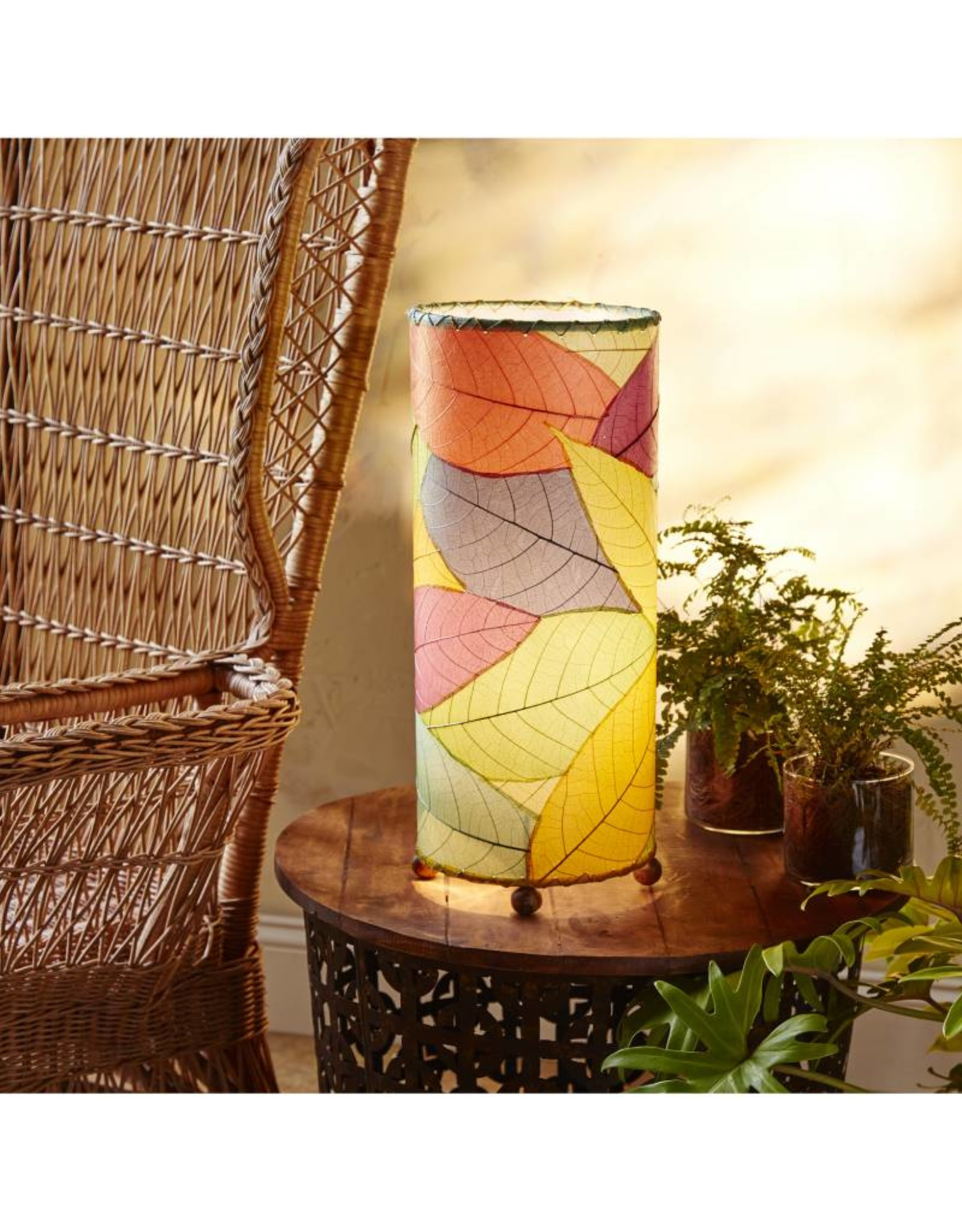 Eangee Outdoor Cocoa Cylinder Lamp