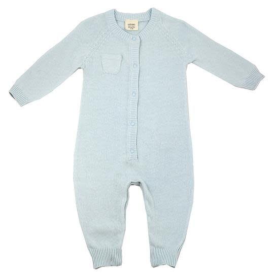 Viverano Milan Flat Knit Jumpsuit- Sky Blue