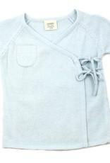 Viverano Milan Flat Knit Kimono Cardigan- Sky Blue
