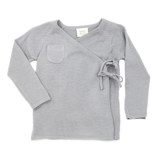 Viverano Milan Flat Knit Kimono Cardigan- Grey