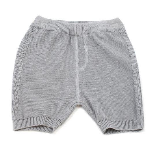 Viverano Milan Flat Knit Shorts- Grey