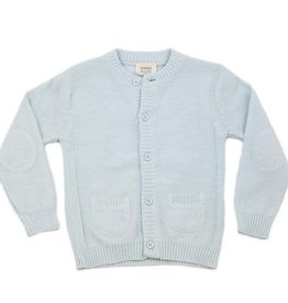 Viverano Milan Knit Button Front Cardigan- Sky Blue