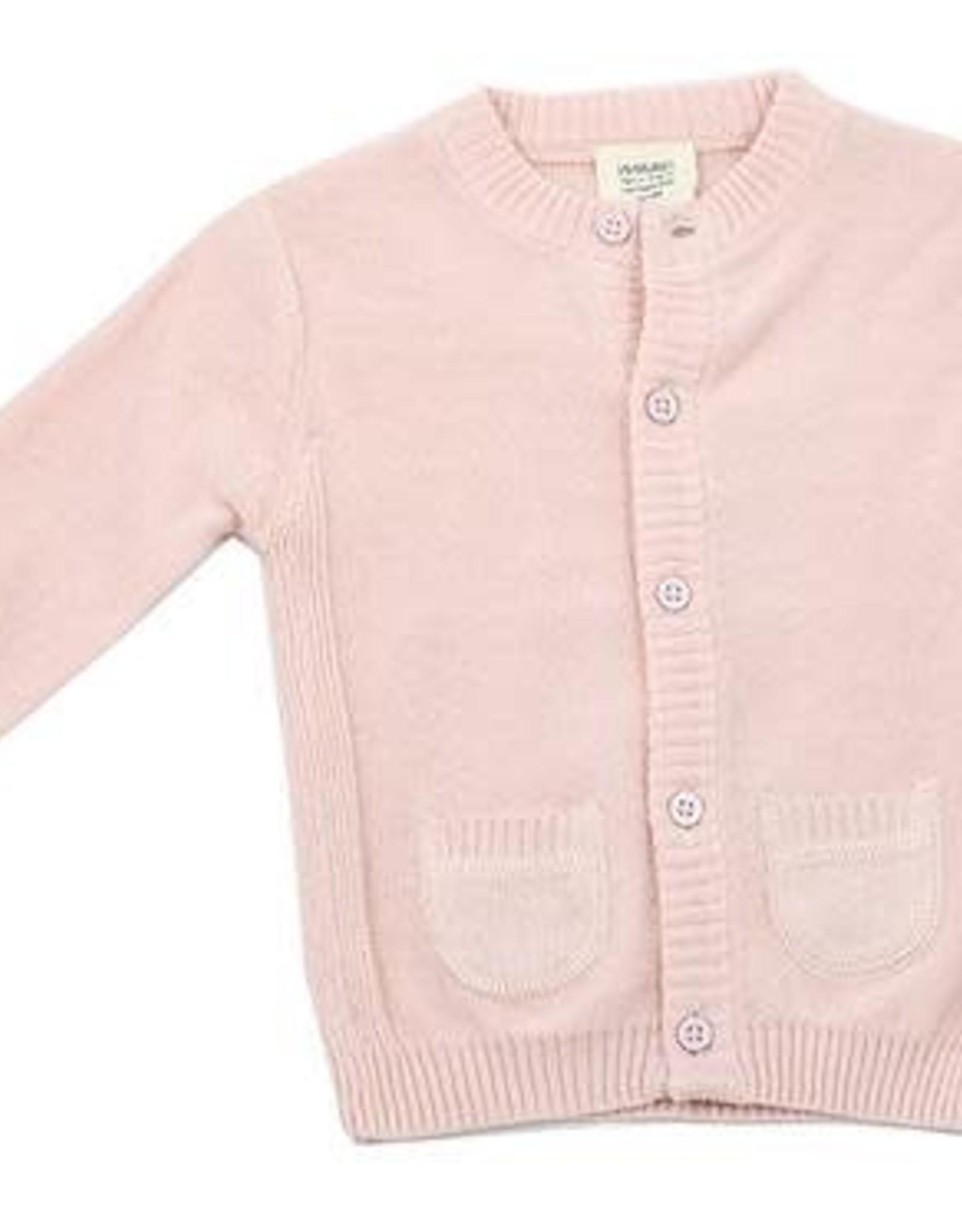 Viverano Milan Knit Button Front Cardigan- Blush