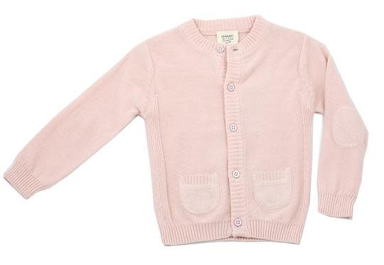 Viverano Milan Knit Button Front Cardigan- Blush