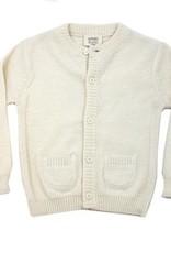Viverano Milan Knit Button Front Cardigan- Cream