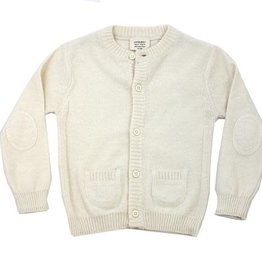 Viverano Milan Knit Button Front Cardigan- Cream