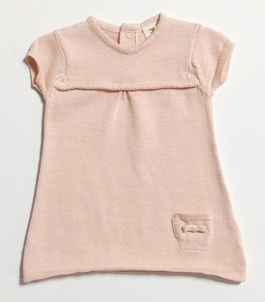 Viverano Milan Flat Knit A-Line Dress- Blush
