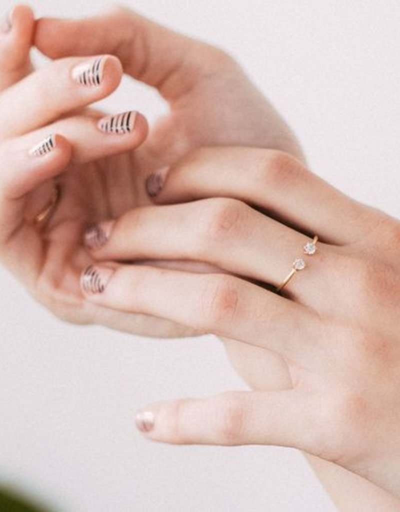 Favor Jewelry Clear Twin Ring